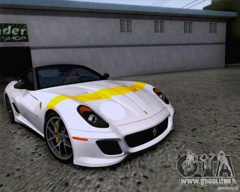 Ferrari 599 GTO 2011 v2.0 pour GTA San Andreas vue de dessus