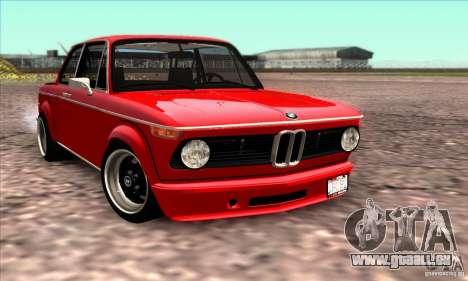 BMW 2002 Turbo pour GTA San Andreas vue de dessus