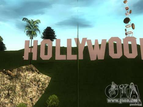 Das Hollywood-Schild für GTA San Andreas
