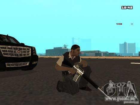 White Red Gun für GTA San Andreas fünften Screenshot