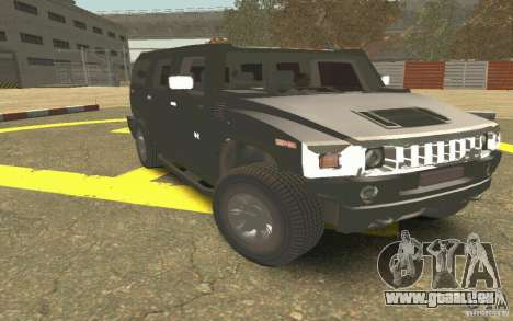 Hummer H2 Stock für GTA San Andreas Innenansicht