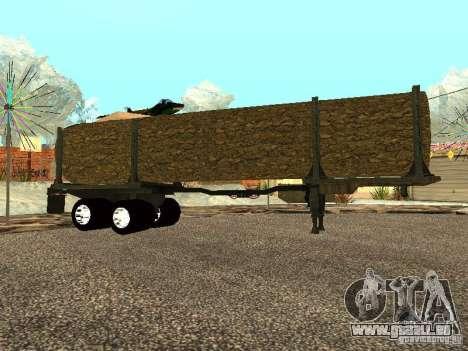 Gefällten Baumes für GTA San Andreas linke Ansicht