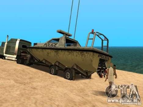 Remorque bateaux pour GTA San Andreas vue de droite
