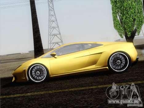 Lamborghini Gallardo LP640 Vallentino Balboni pour GTA San Andreas vue arrière