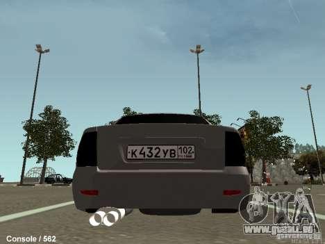 VAZ-2170 für GTA San Andreas zurück linke Ansicht