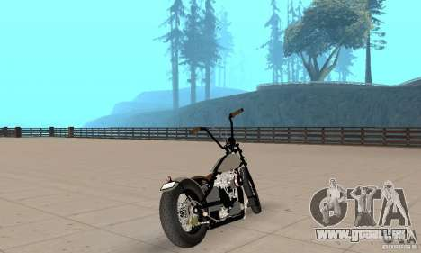 HD Shovelhead Chopper v2. 1-Chrom für GTA San Andreas linke Ansicht