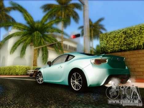 Subaru BRZ S 2012 für GTA San Andreas zurück linke Ansicht