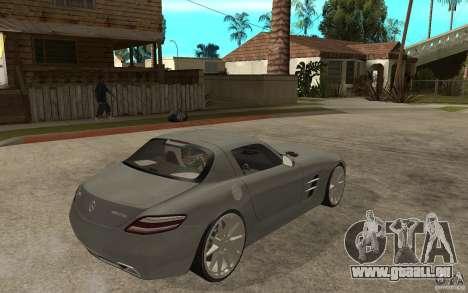 Mercedes-Benz SLS pour GTA San Andreas vue de droite