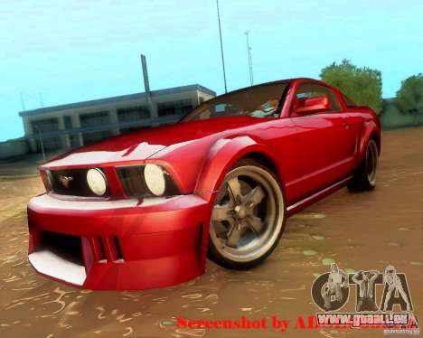Ford Mustang GT 2005 Tunable pour GTA San Andreas vue de droite