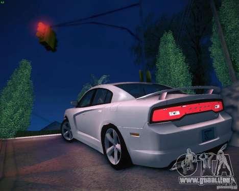 Dodge Charger 2011 v.2.0 pour GTA San Andreas sur la vue arrière gauche