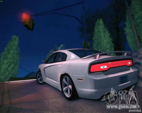 Dodge Charger 2011 v.2.0 für GTA San Andreas zurück linke Ansicht