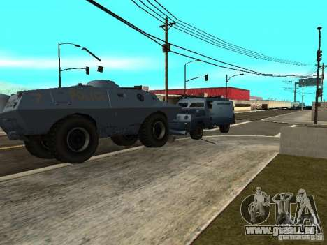 SWAT und FBI-Truck fahren durch die Straßen von für GTA San Andreas her Screenshot