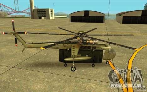 Sikorsky CH-54 Tarhe für GTA San Andreas linke Ansicht