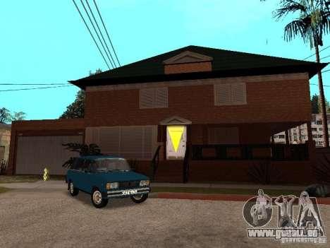 CJ's Haus in russischer Sprache für GTA San Andreas