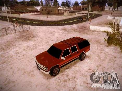 Chevrolet Suburban 1998 pour GTA San Andreas laissé vue