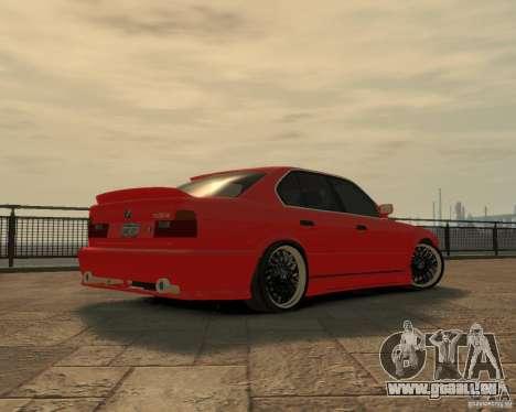Bmw 535i (E34) tuning pour GTA 4 Vue arrière