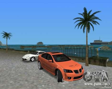 Pontiac G8 GXP pour GTA Vice City