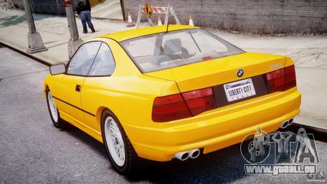 BMW 850i E31 1989-1994 pour GTA 4 Vue arrière de la gauche