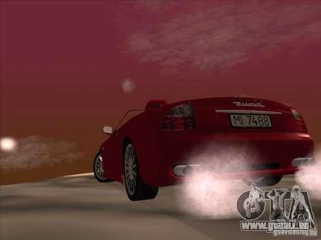 Maserati Spyder Cambiocorsa pour GTA San Andreas vue de dessus