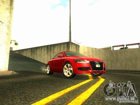 Audi TT 2009 v2.0 pour GTA San Andreas sur la vue arrière gauche