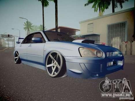 Subaru Impreza WRX STI für GTA San Andreas obere Ansicht