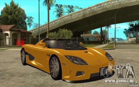 Koenigsegg CCX - Stock pour GTA San Andreas vue arrière