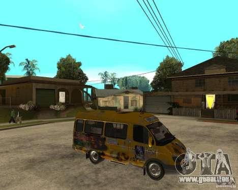 Gaz Gazelle 2705 Minibus pour GTA San Andreas vue de droite