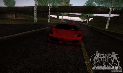 Ferrari F430 v2.0 pour GTA San Andreas laissé vue