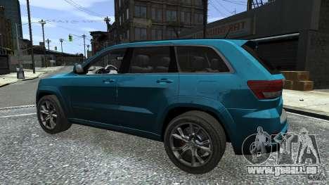 Jeep Grand Cherokee STR8 2012 für GTA 4 Unteransicht