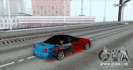 Nissan Skyline R34 Evil Empire pour GTA San Andreas laissé vue