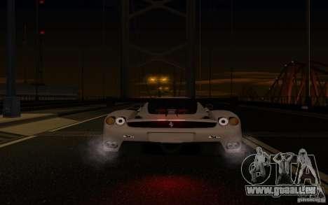 Ferrari Enzo ImVehFt pour GTA San Andreas vue de dessous