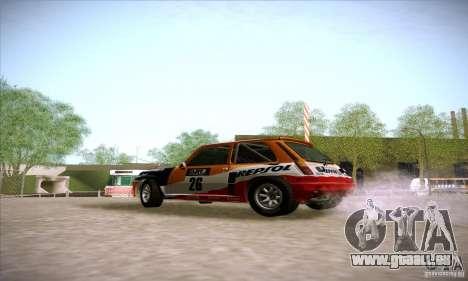 Renault 5 GT Turbo Rally pour GTA San Andreas laissé vue