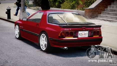 Mazda RX7 FC3S v2 FINAL pour GTA 4 Vue arrière de la gauche
