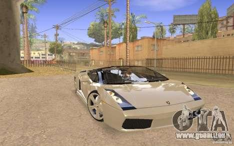 Lamborghini Galardo Spider pour GTA San Andreas vue de droite