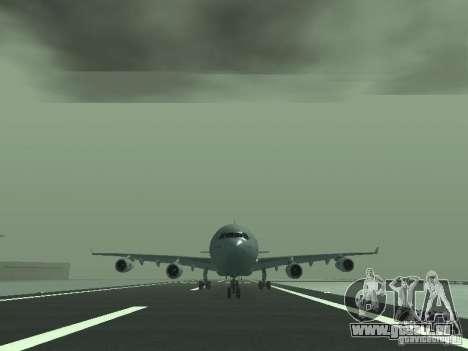 Airbus A340-300 Air France für GTA San Andreas Rückansicht