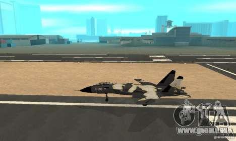 Su-47 « berkut » Cammo pour GTA San Andreas laissé vue