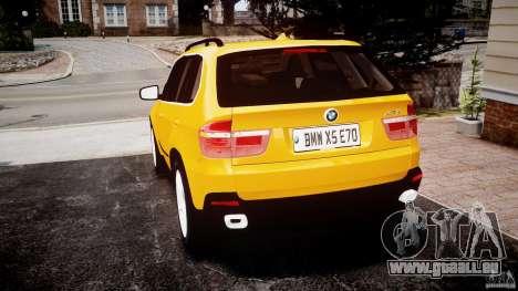 BMW X5 E70 v1.0 pour GTA 4 Vue arrière de la gauche