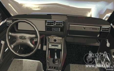 Lada VAZ-2107 rue dérive à l'écoute pour GTA San Andreas vue de dessus