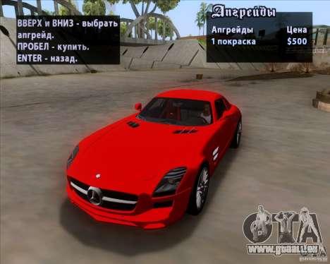 Mercedes-Benz SLS AMG V12 TT Black Revel pour GTA San Andreas vue intérieure