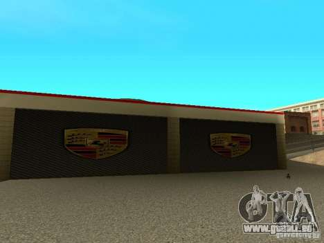 Porsche-Garage für GTA San Andreas her Screenshot