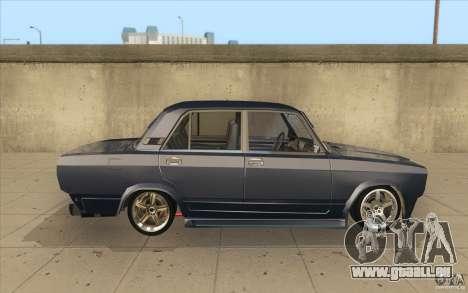 Lada VAZ-2107 rue dérive à l'écoute pour GTA San Andreas vue intérieure