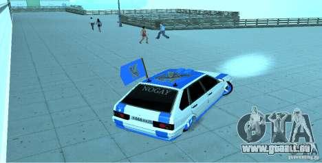 ВАЗ 2114 Nogay Tun pour GTA San Andreas sur la vue arrière gauche