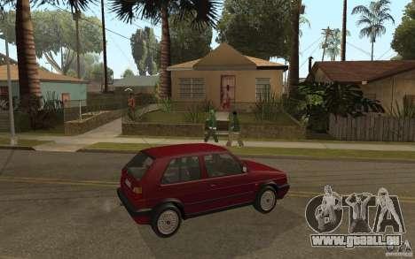 VW Golf Mk2 GTI für GTA San Andreas rechten Ansicht