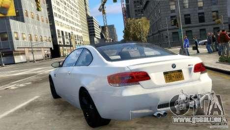 BMW M3 E92 2008 v1.0 pour GTA 4 Vue arrière de la gauche
