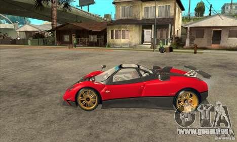 Pagani Zonda Tricolore V1 pour GTA San Andreas laissé vue