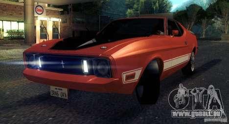 Ford Mustang Mach1 1973 pour GTA San Andreas vue intérieure