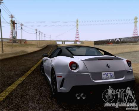Ferrari 599 GTO 2011 v2.0 pour GTA San Andreas laissé vue