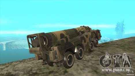 MAZ-543-Hurrikan CoD BO2 für GTA San Andreas Rückansicht