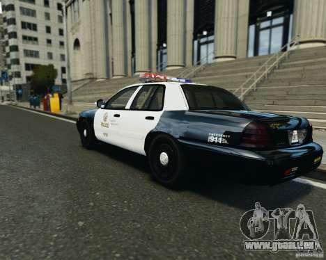 Ford Crown Victoria LAPD pour GTA 4 est un droit