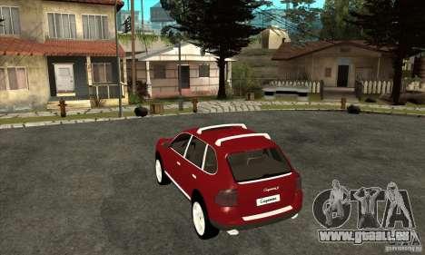 Porsche Cayenne Turbo pour GTA San Andreas sur la vue arrière gauche